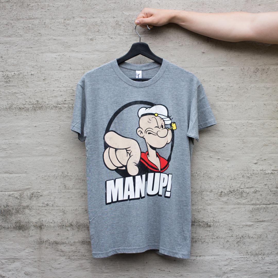 Skipper Skræk Man Up! T-shirt