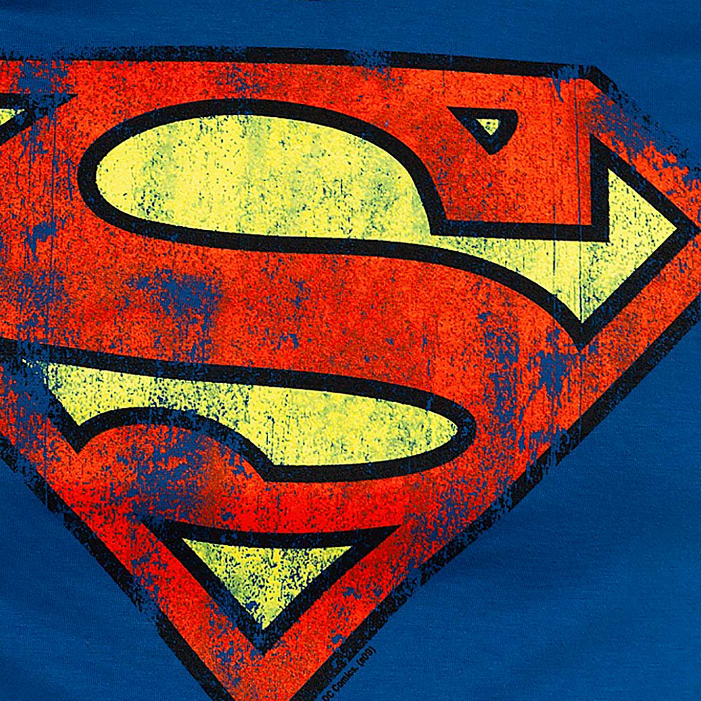 Superman Logo Distressed Slim Fit T-shirt