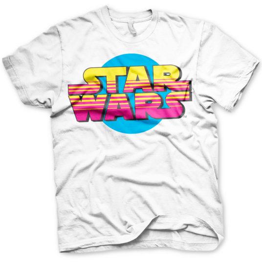 Star wars retro logo hvid