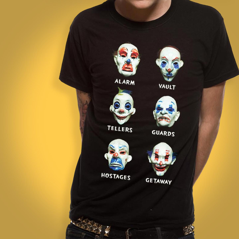 The Dark Knight Joker Masks T-shirt