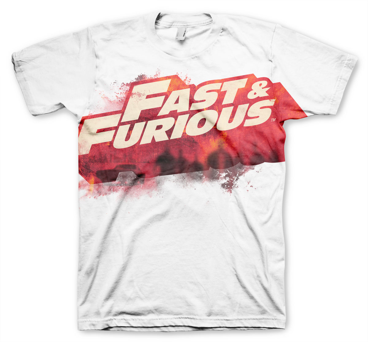 Fast-and_furious-hvid-T-shirt
