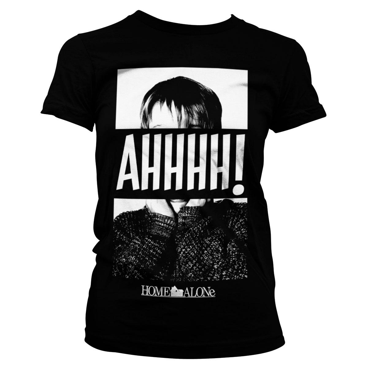Alene_hjemme_ahhh-kvinde-t-shirt