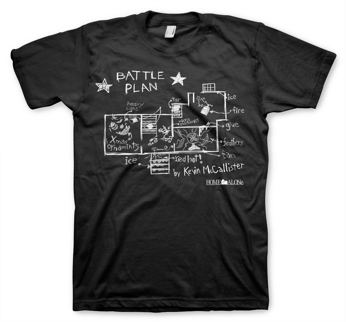Alene_hjemme_battle plan_t-shirt