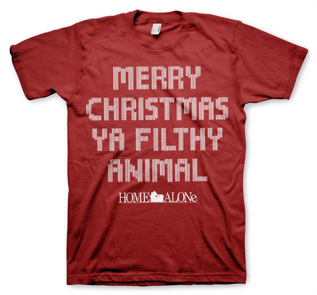 Alene_hjemme_merry-x-mas_t-shirt